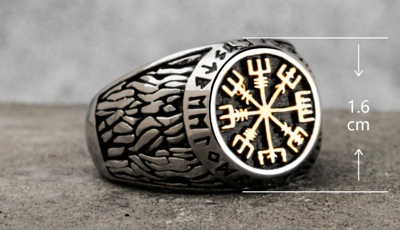 Viking Rune Stainless Steel Ring