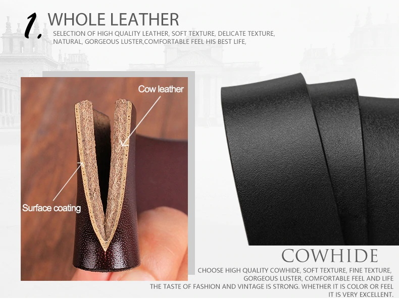 Luxury Casual Genuine Leather Vintage Belt