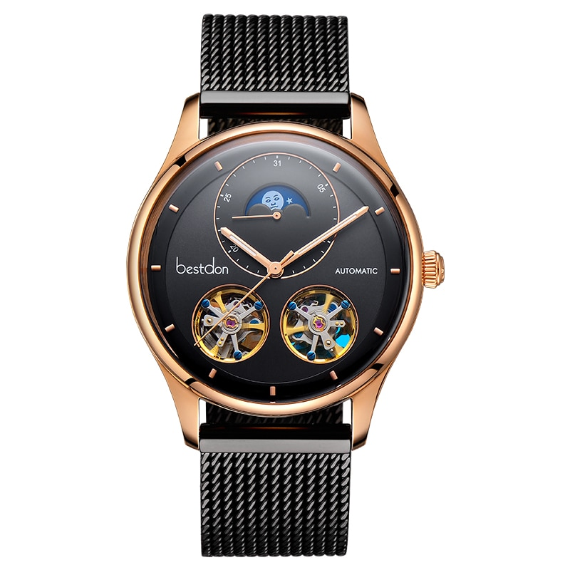 Double Tourbillon Switzerland Automatic Mechanical Watches Men's Watches Mens Mechanical Watches