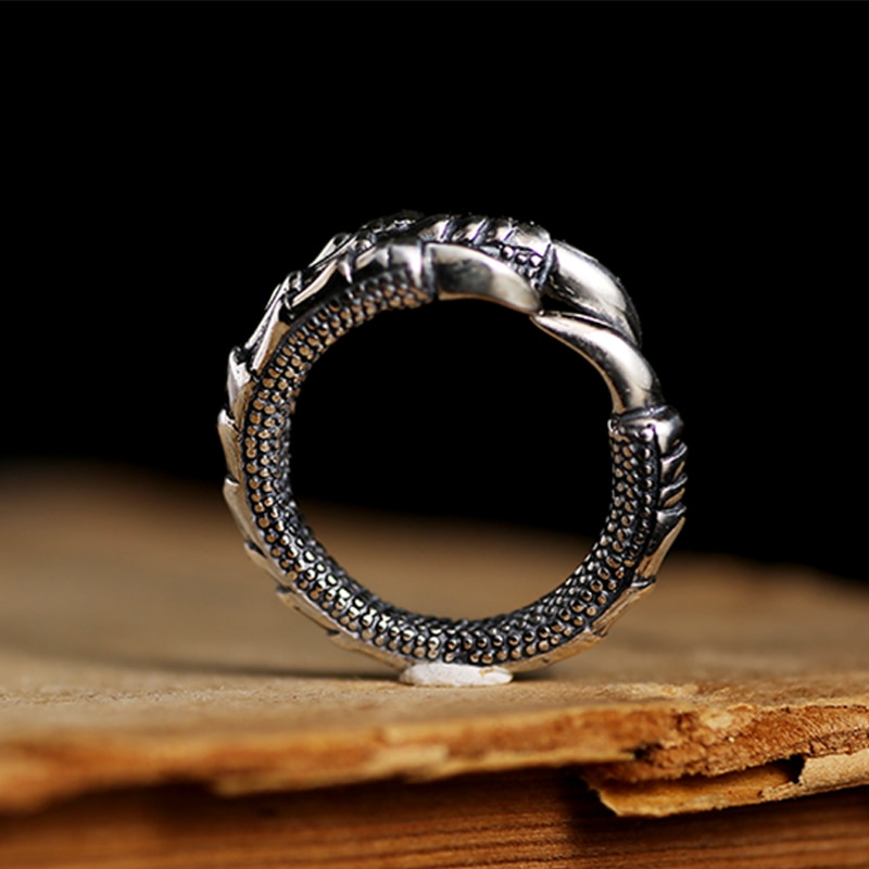 Silver Steampunk Eagle Paw Open Ring Mens Rings Silver Rings