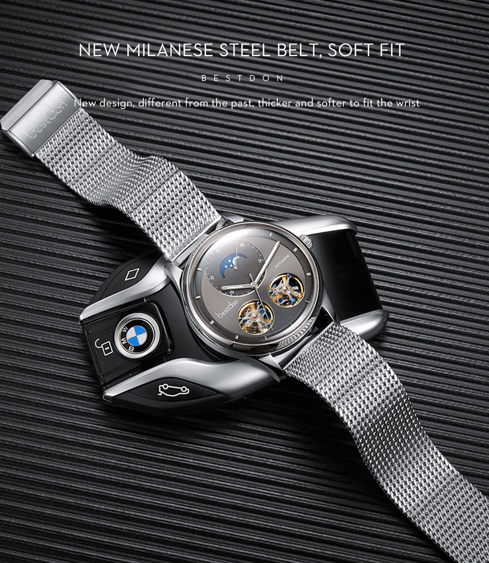 Moon Phase Stainless Steel Switzerland Luxury Watches