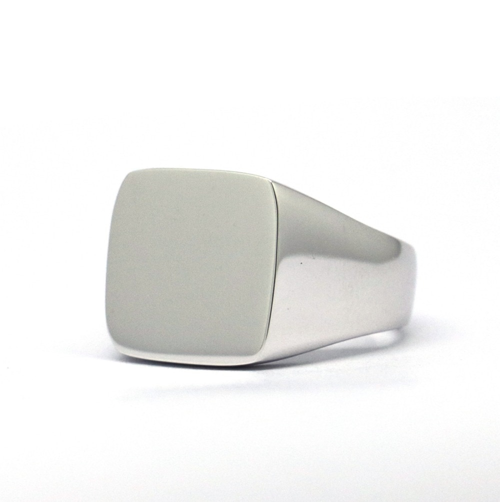 925 Sterling Silver Square Signet Ring Mens Rings Signet Rings Silver Rings