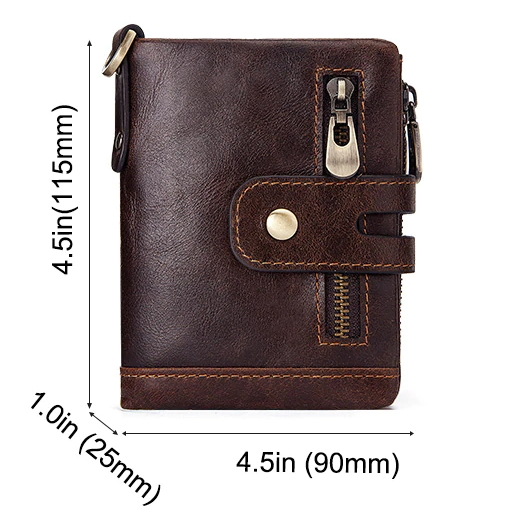 Rfid Genuine Cow Leather Small Wallet Mens Wallets Men's Accessories