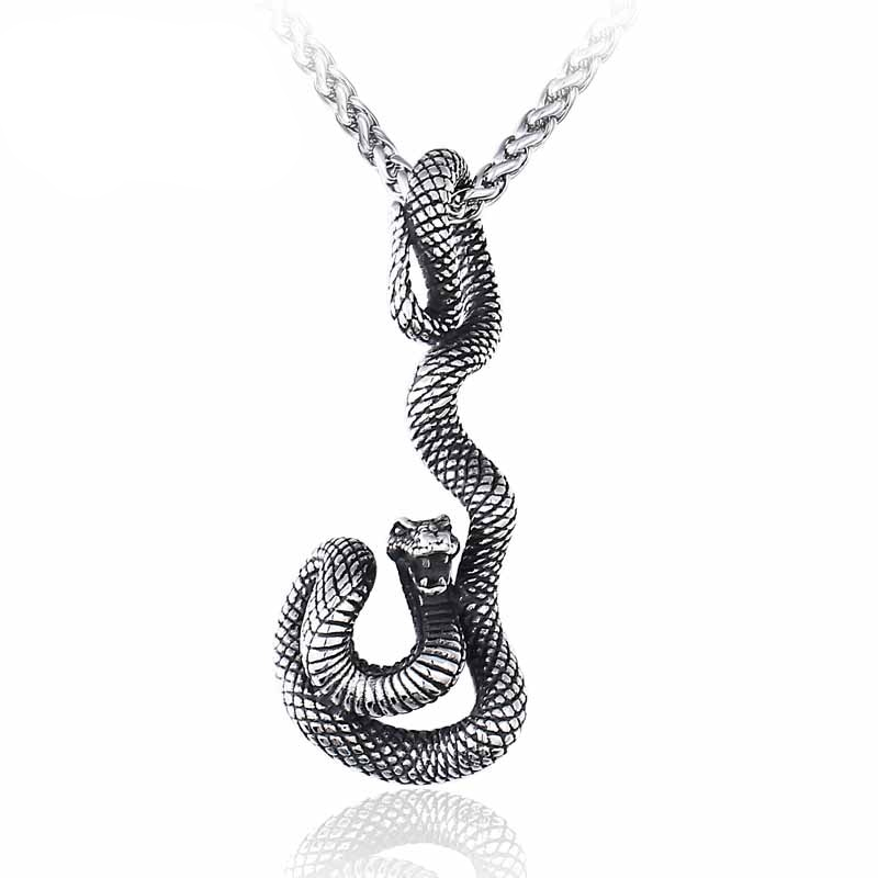 Stainless Steel Snake Pendant Necklace Men's Jewellery Mens Necklaces & Pendants