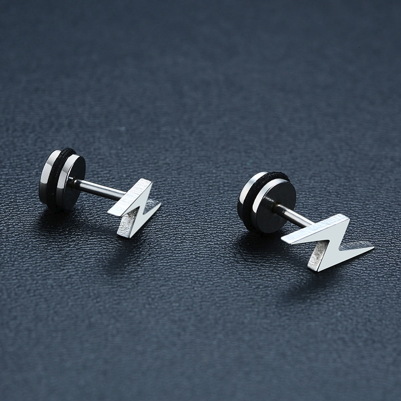 Lightning Bolt Earrings Men's Jewellery Mens Earrings