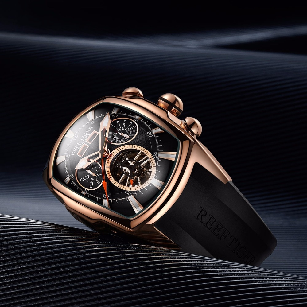 Luxury Tourbillon Analog Automatic Watch Men's Watches Mens Mechanical Watches